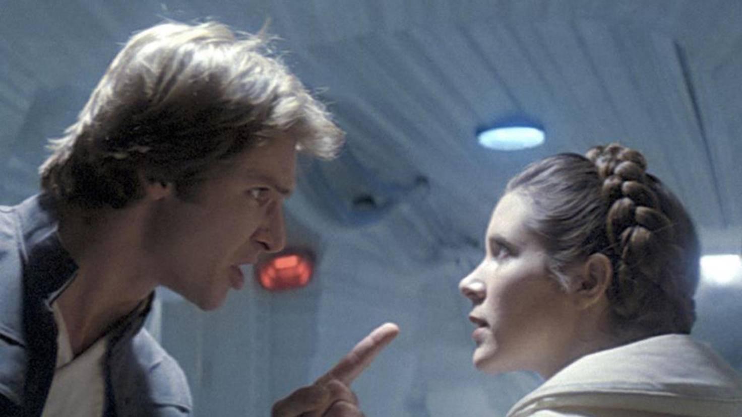 Die Liebelei von Carrie Fisher und Harrison Ford war vor und hinter der Kamera stürmisch.