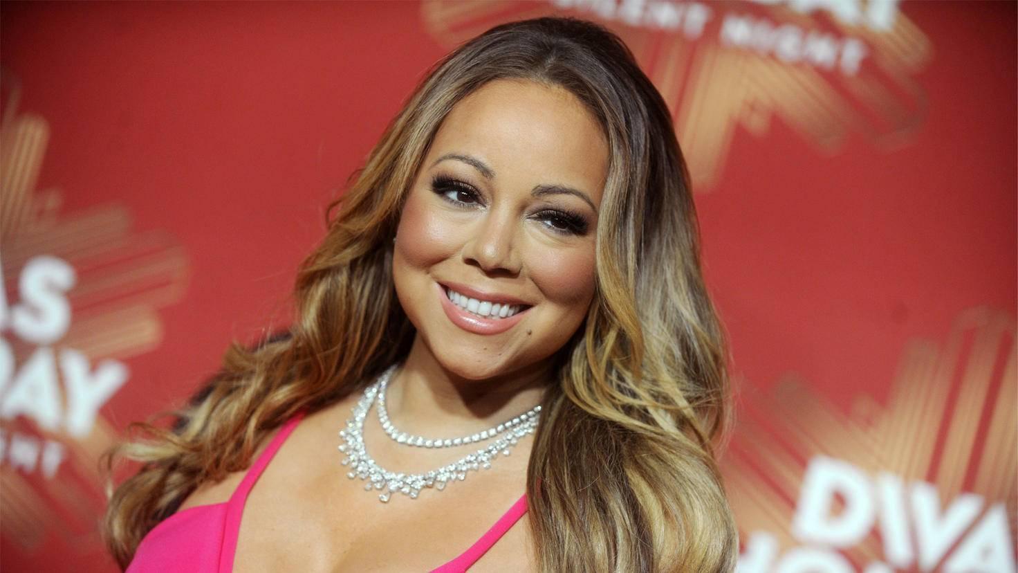 Bloß keine zu aufregenden Muster im Backstage-Bereich von Mariah Carey.