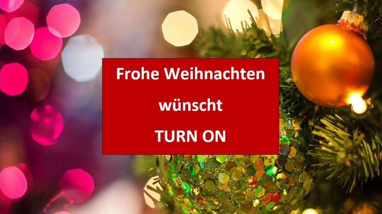 Weihnachtskarte TURN ON Teaser Ende