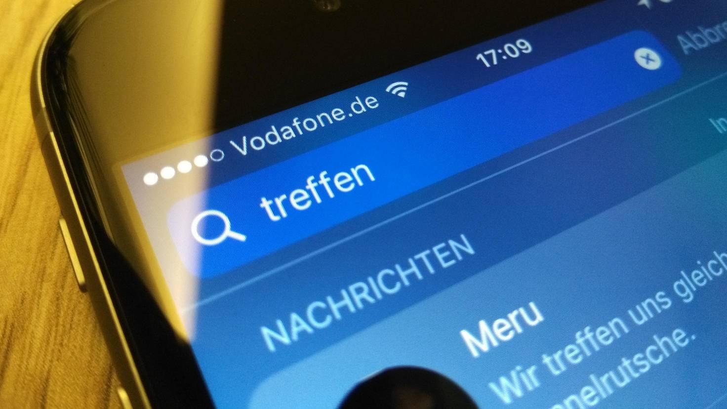 iPhone Spotlight Nachrichten
