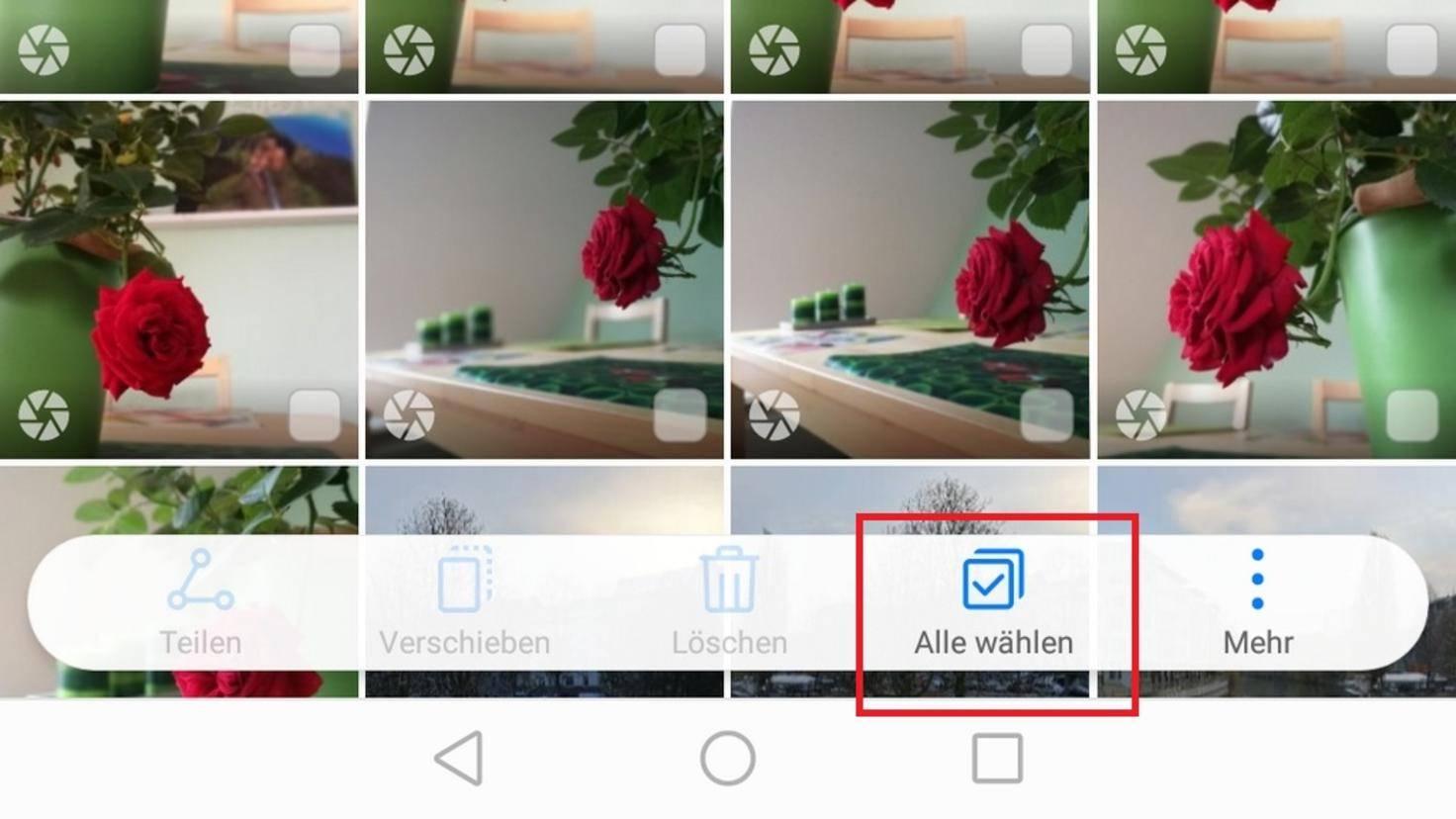 Android Fotos löschen