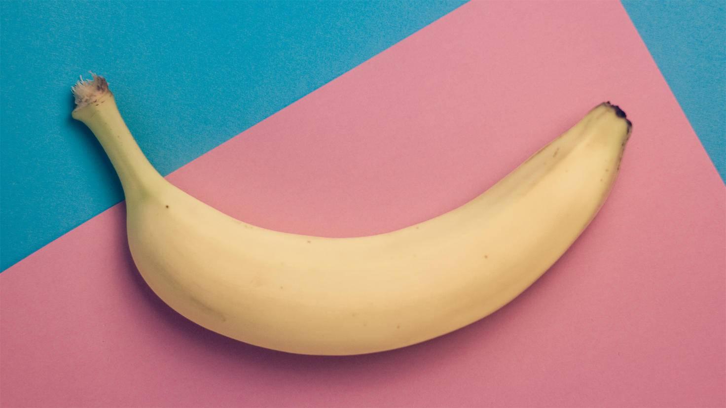 Die Banane sättigt vor dem Schlafengehen.
