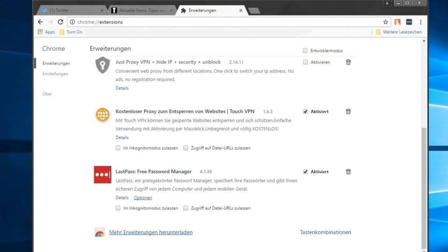 Chrome Erweiterungen Installieren