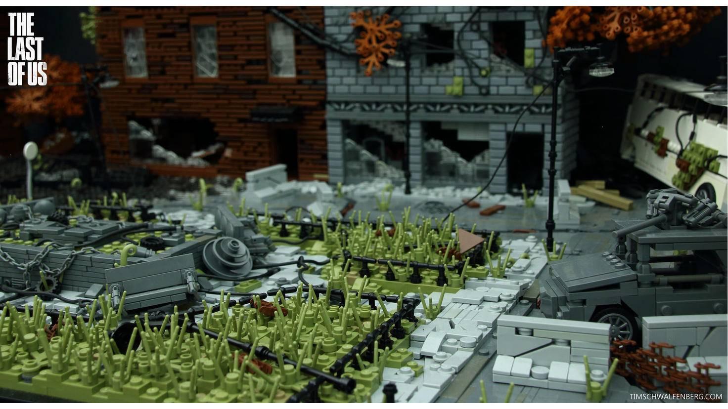 Die Detailverliebtheit des Lego-Bauwerks ist faszinierend.