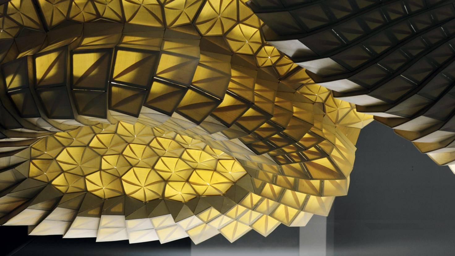 Klimaveränderungen: HygroScope, eine Installation im Centre Pompidou Paris, reagiert in ihren Bewegungen auf sich verändernde Umweltbedingungen.