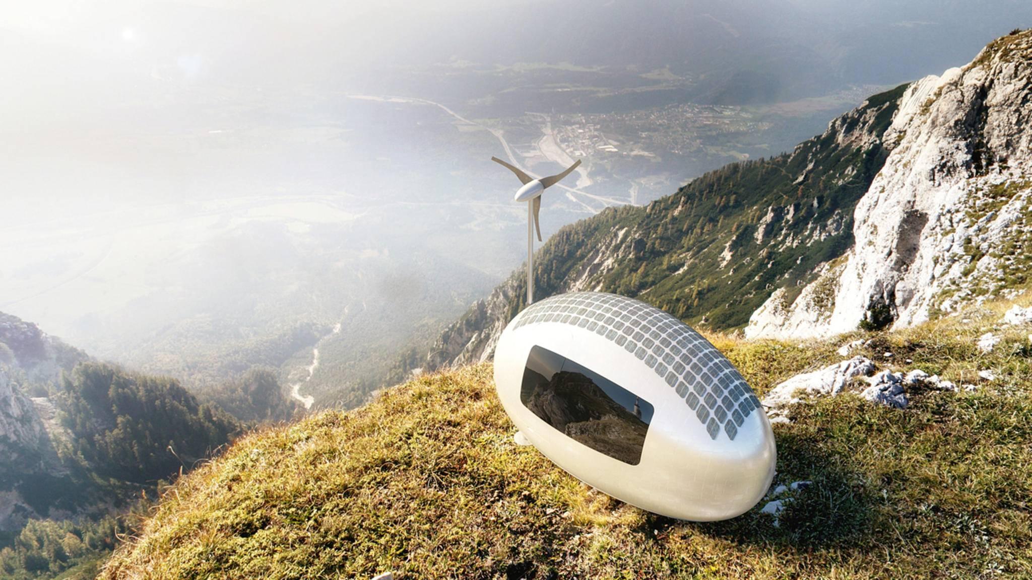 Toller Ausguck: Das Wohn-Ei kann ganz einfach an den schönsten Orten der Welt geparkt werden.