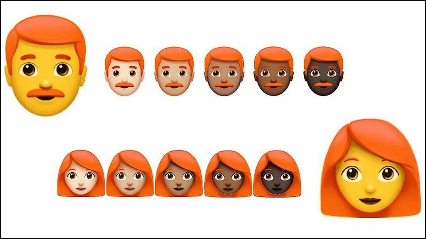 Rothaarige Emojis