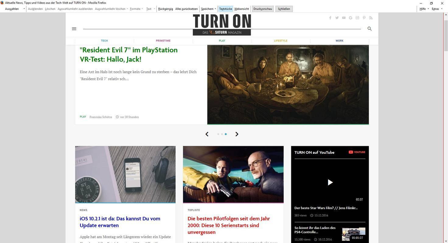 Turn On Website Firefox Print Edit