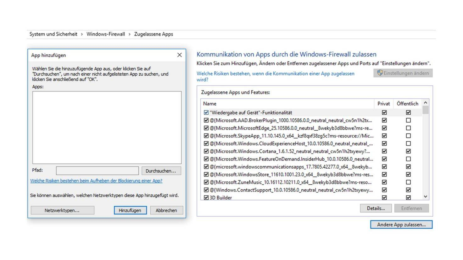 Windows 10 Firewall 2