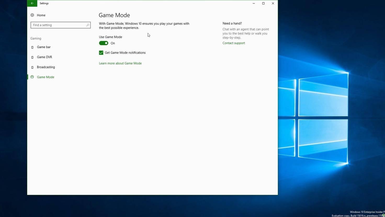Windows 10 Game Mode