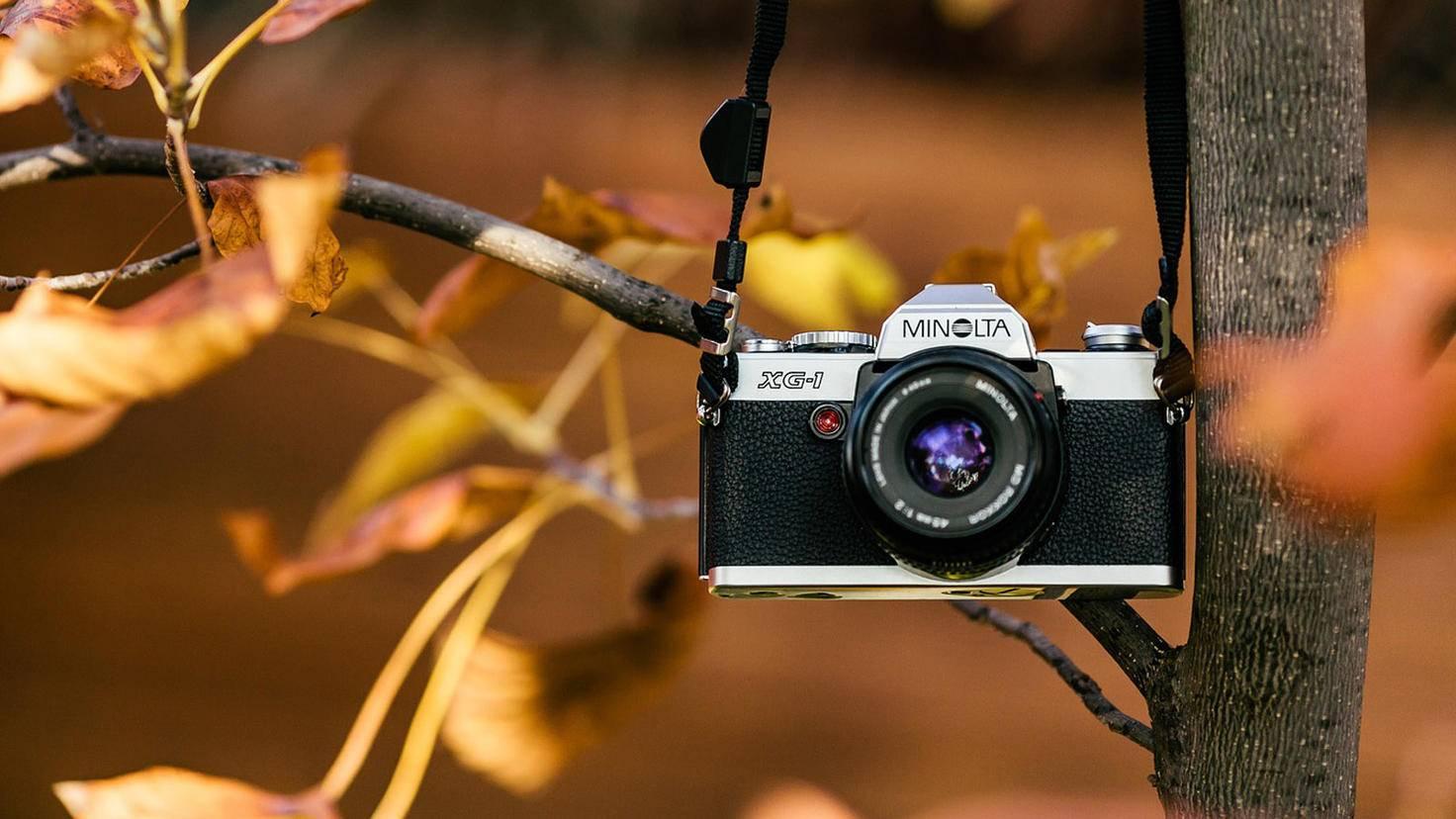 Analoge Spiegelreflexkameras (hier ein Modell von Minolta) sind für ambitionierte Anfänger am besten geeignet.