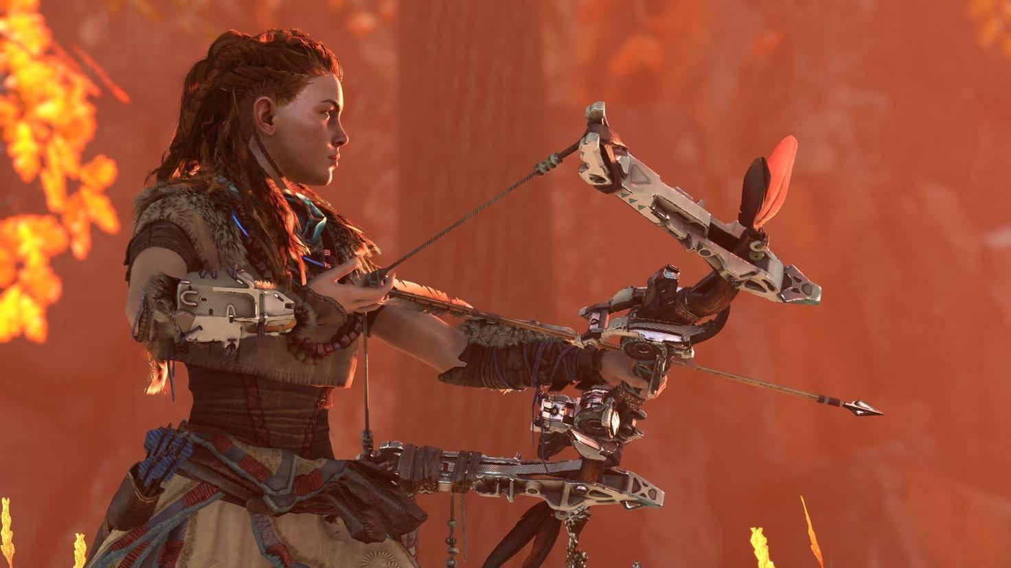 """Was einen Release von """"Horizon Zero Dawn"""" angeht, können es PC-Spieler nur Aloys Bogen gleichtun – und gespannt warten."""