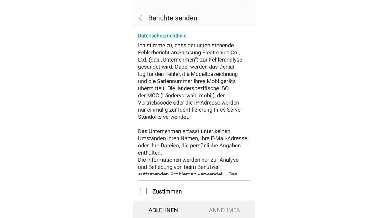 Galaxy A5 2017 Datenschutz