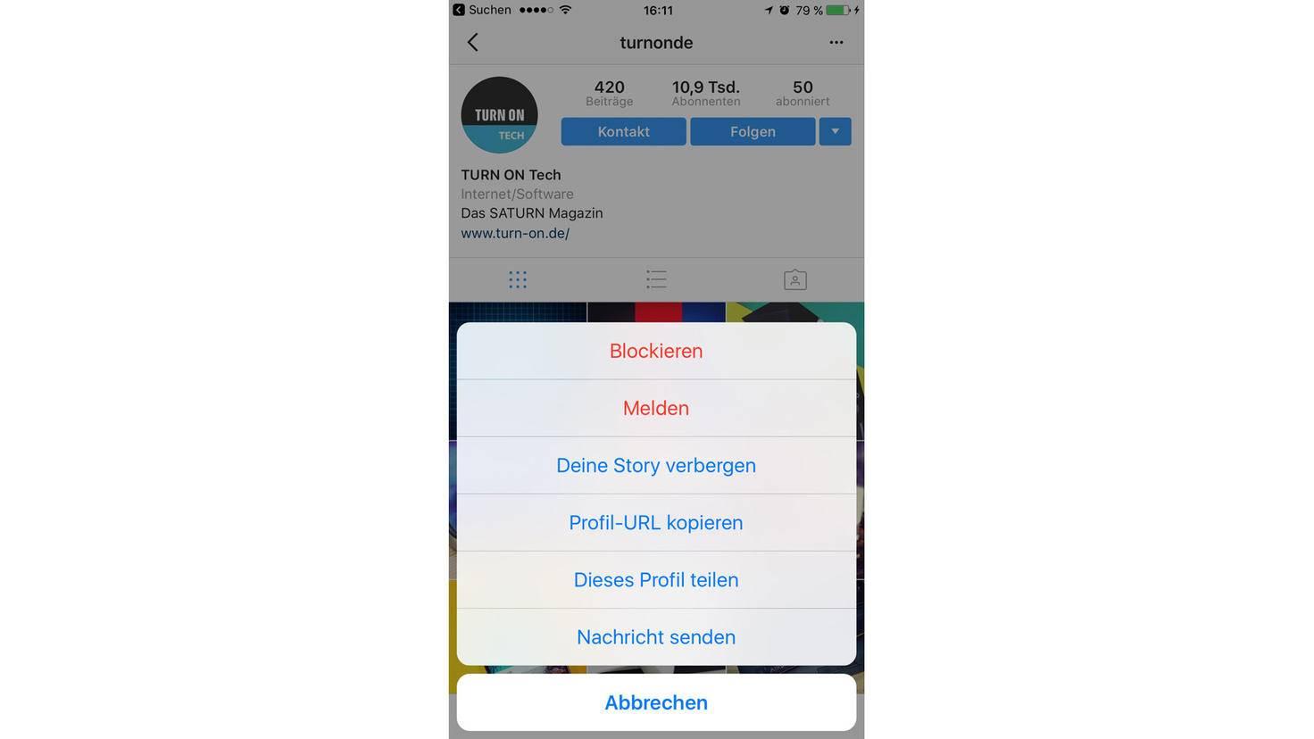 Instagram-blockieren