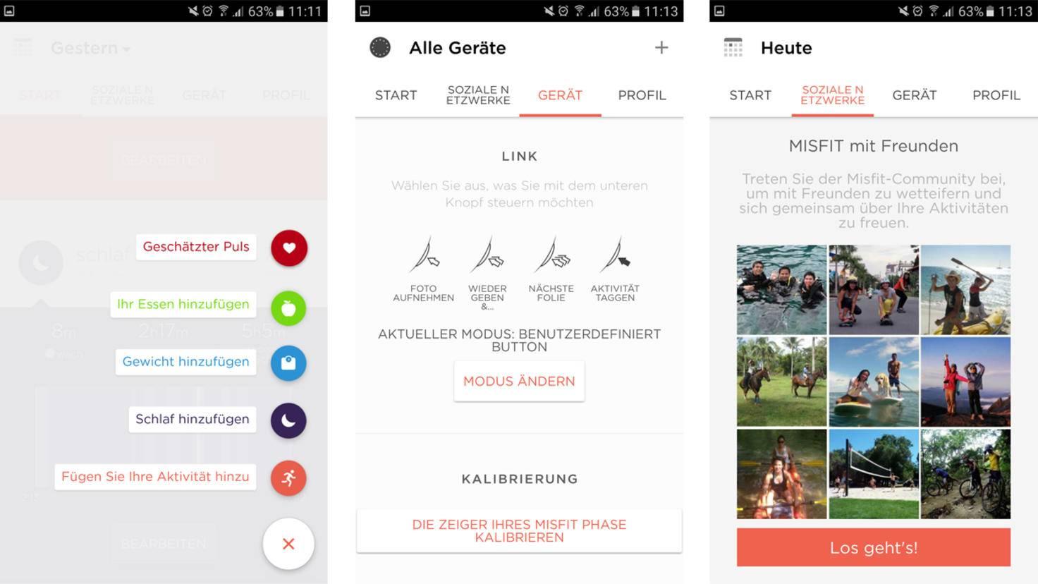 Zusätzliche Werte einfügen, den Smart Button individualisieren oder mit Freunden verbinden: Das alles geht in der Misfit-App.