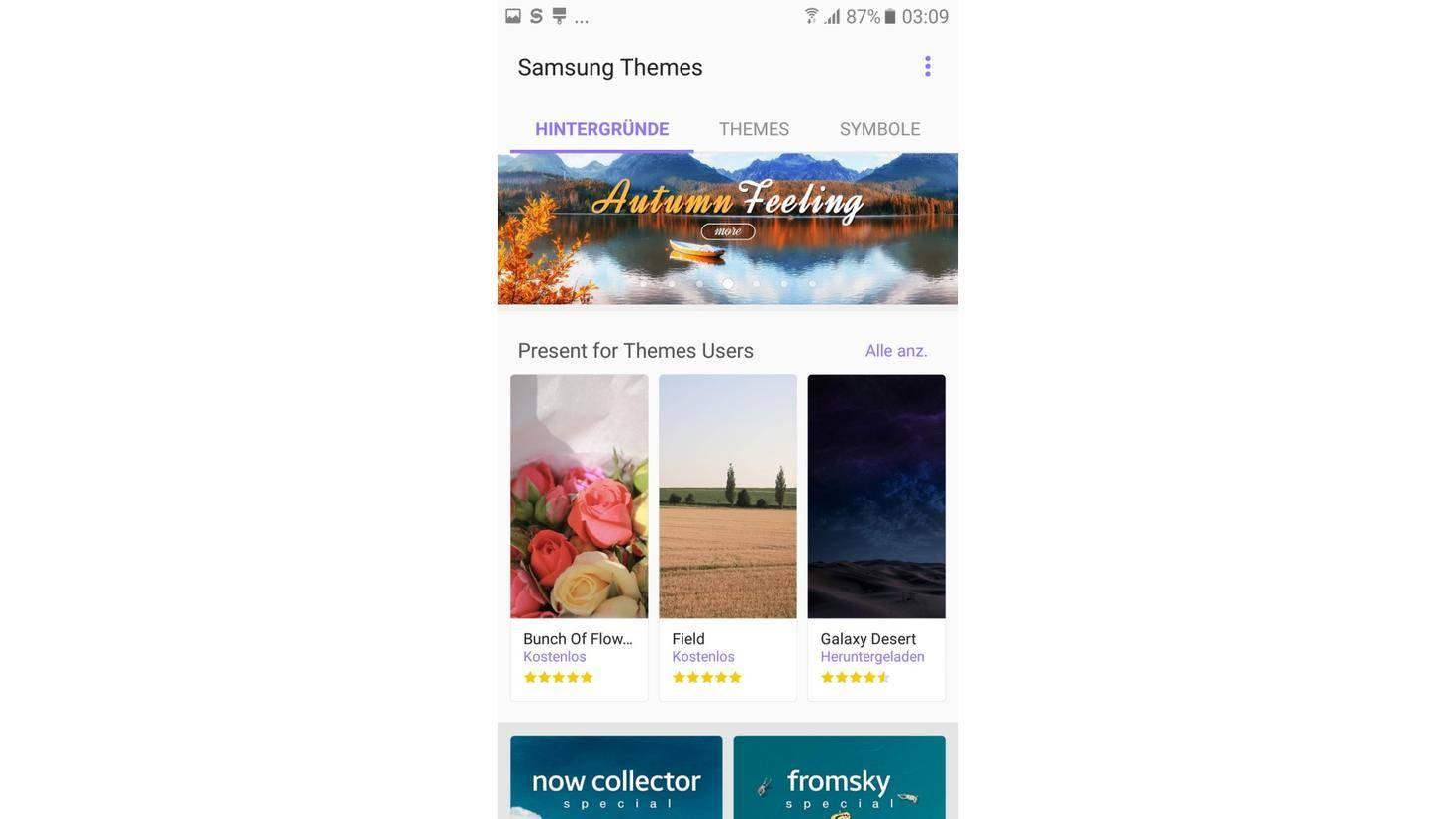 Screenshot Samsung Themes Galaxy A5 2017