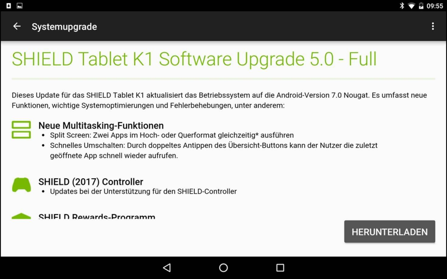 Shield K1 Android 7