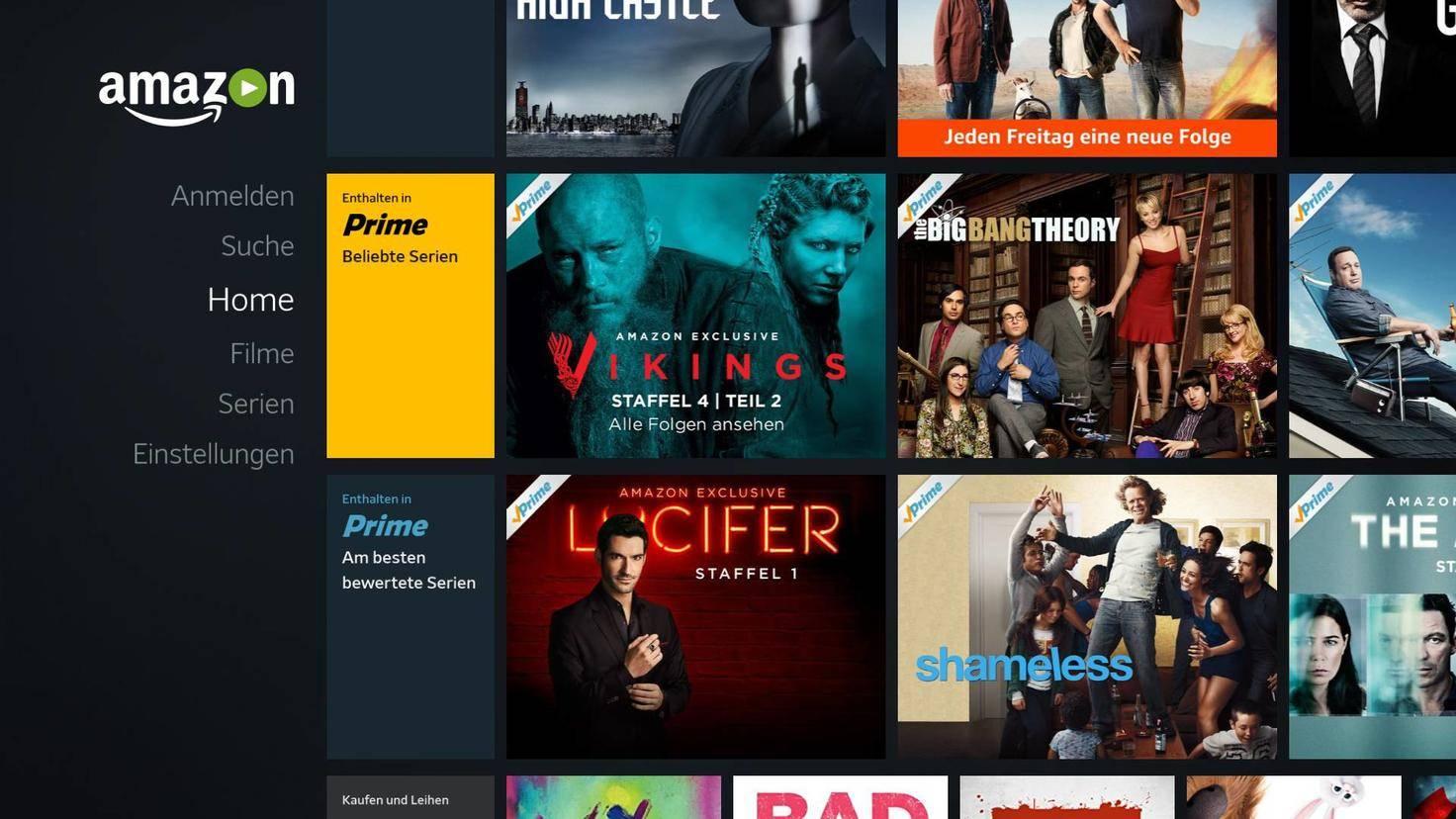 Führende Streaming-Anbieter wie Amazon sind mit an Bord.