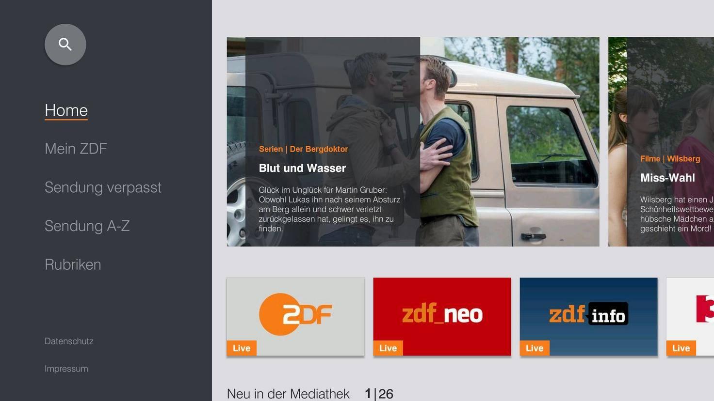 Auch die meisten Sender-Mediatheken gibt es für Shield TV.