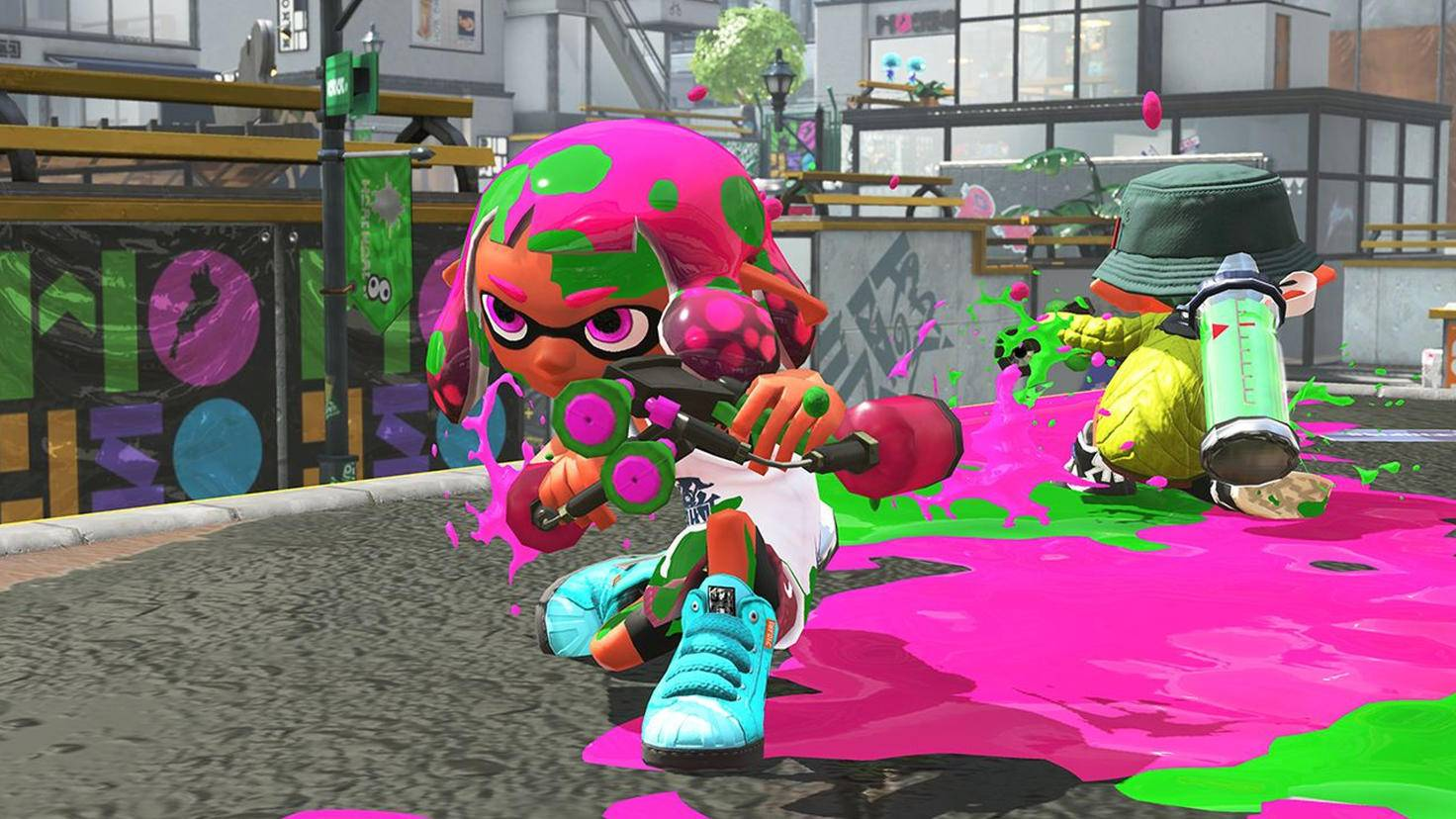"""Der Farbklecks-Shooter """"Splatoon 2"""" ist einer der wichtigsten Multiplayer-Titel der Nintendo Switch."""