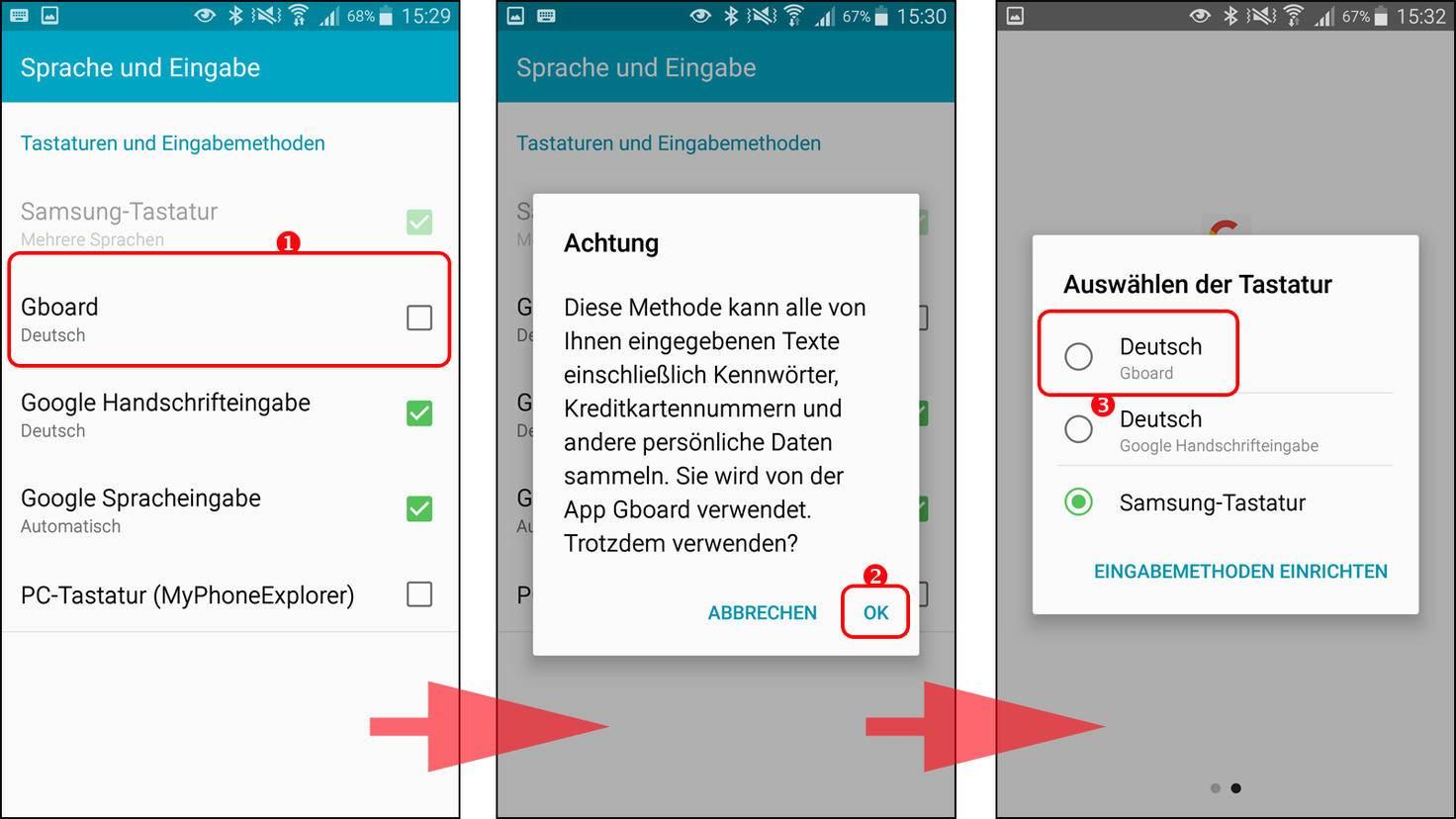 Android: Tastatur wechseln