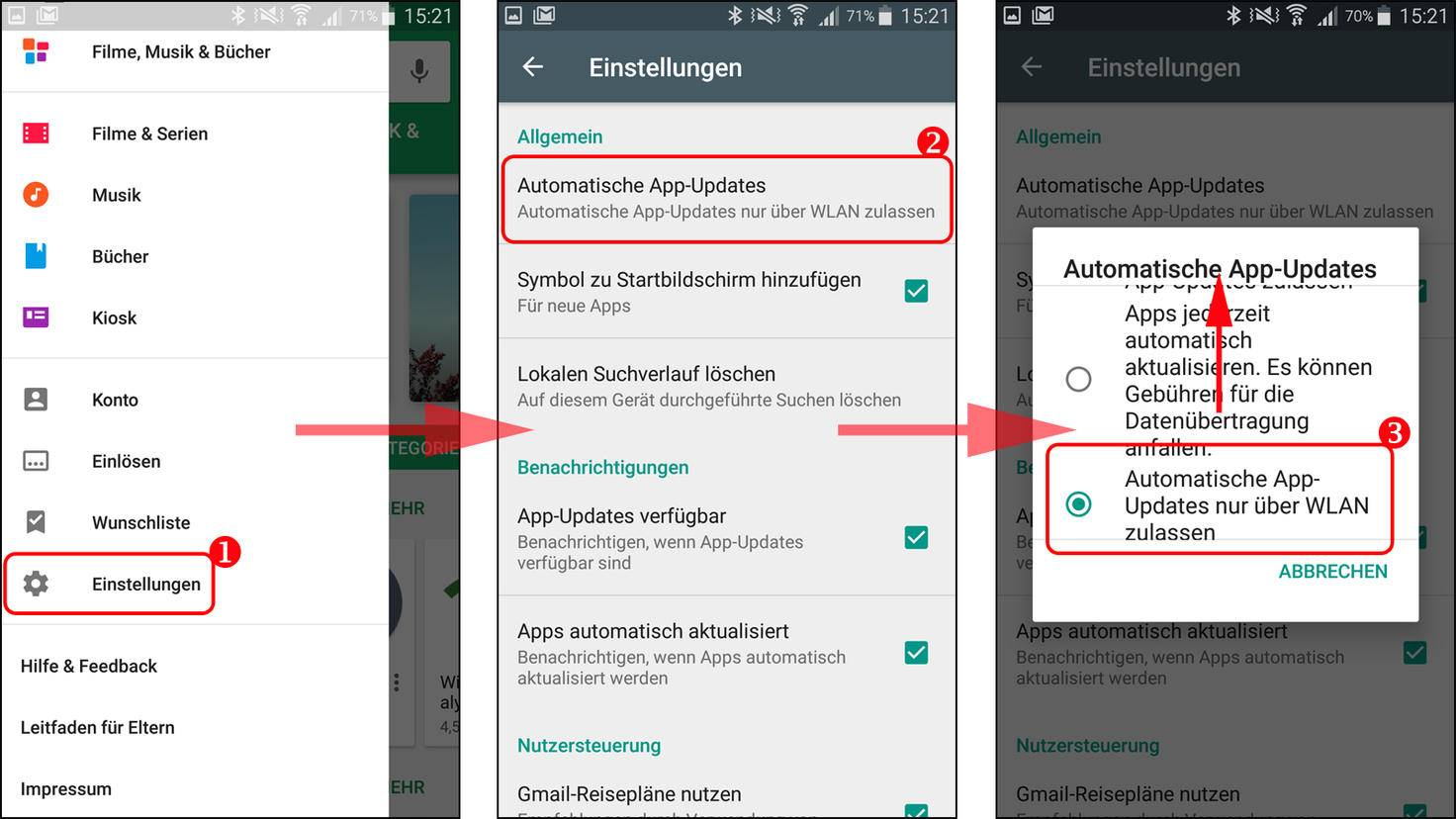 Android-Updates nicht mehr automatisch ausführen.