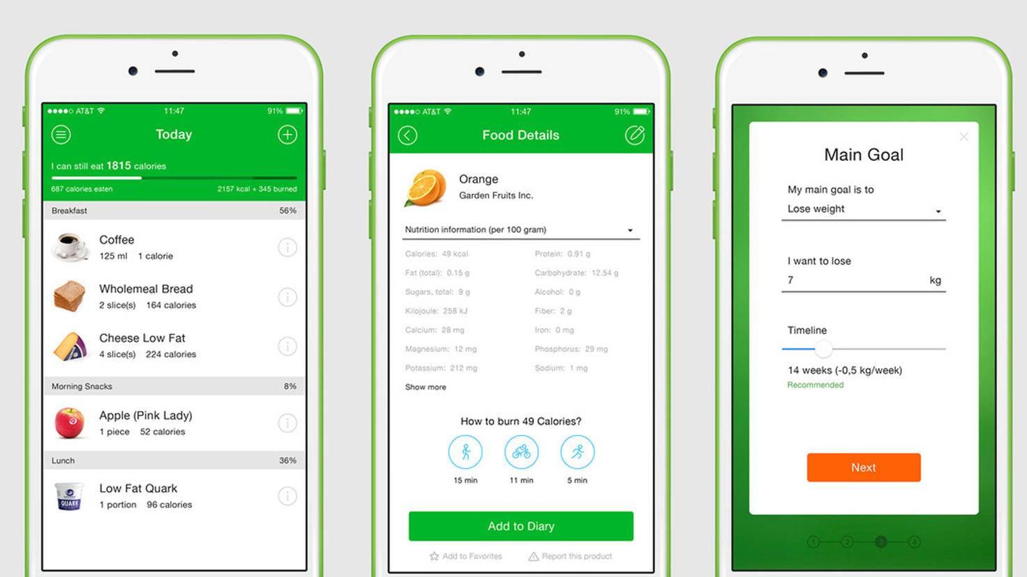 App Kalorienzählen Kostenlos