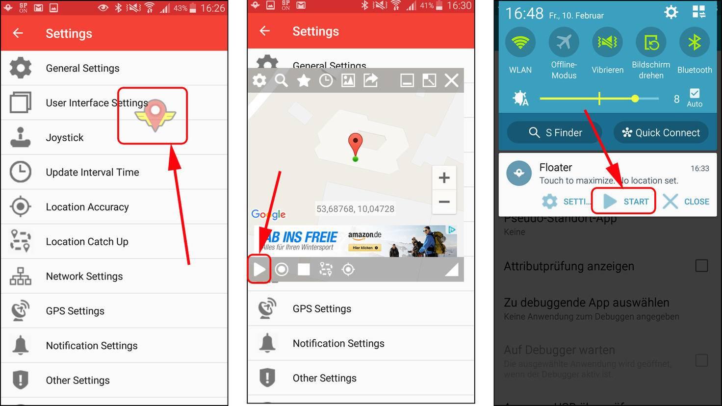Standort unter Android fälschen