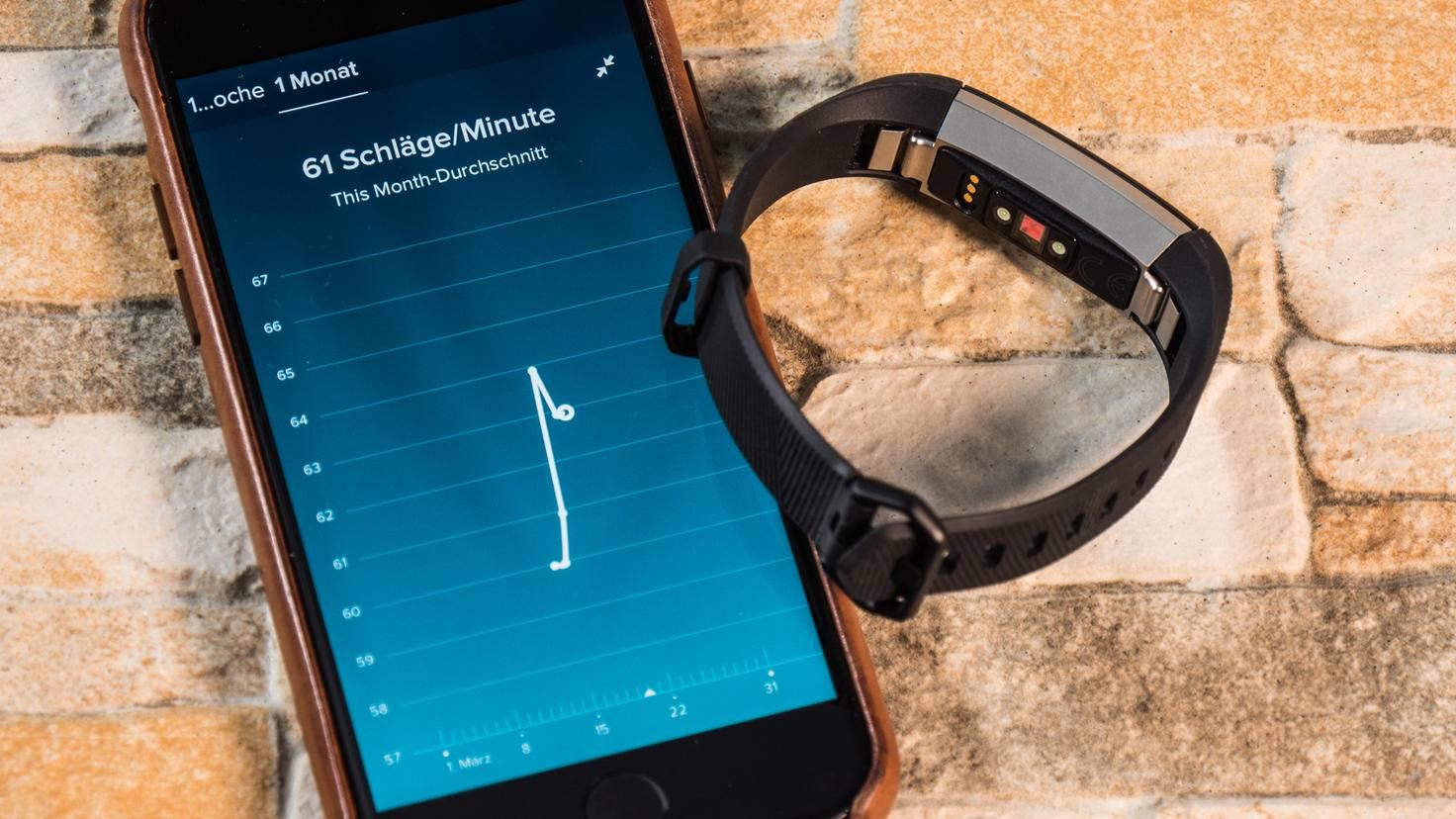 Die Fitbit-App zeigt Dir detailliert an, wie sich Dein Puls in aktiven Momenten oder Ruhephasen verhält.