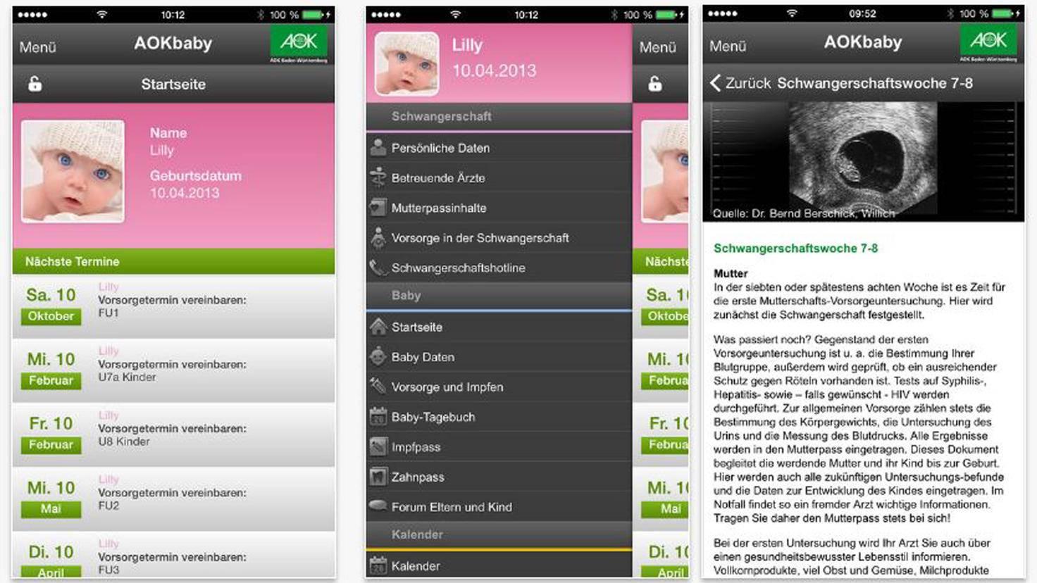 AOK Baby-App
