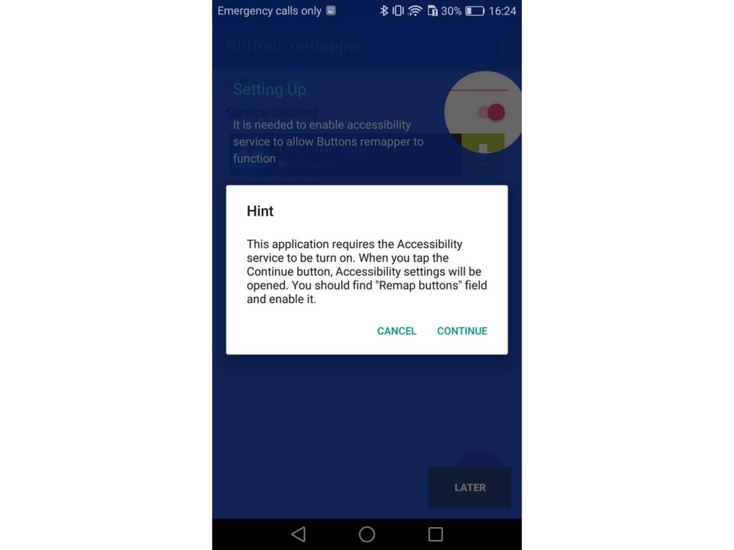 Nach dem Start bittet Dich die App um die nötigen Berechtigungen.