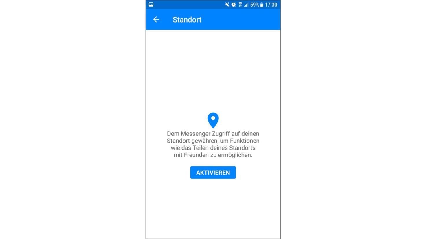 Zudem musst Du dem Facebook Messenger den Zugriff auf Deinen Standort erlauben.