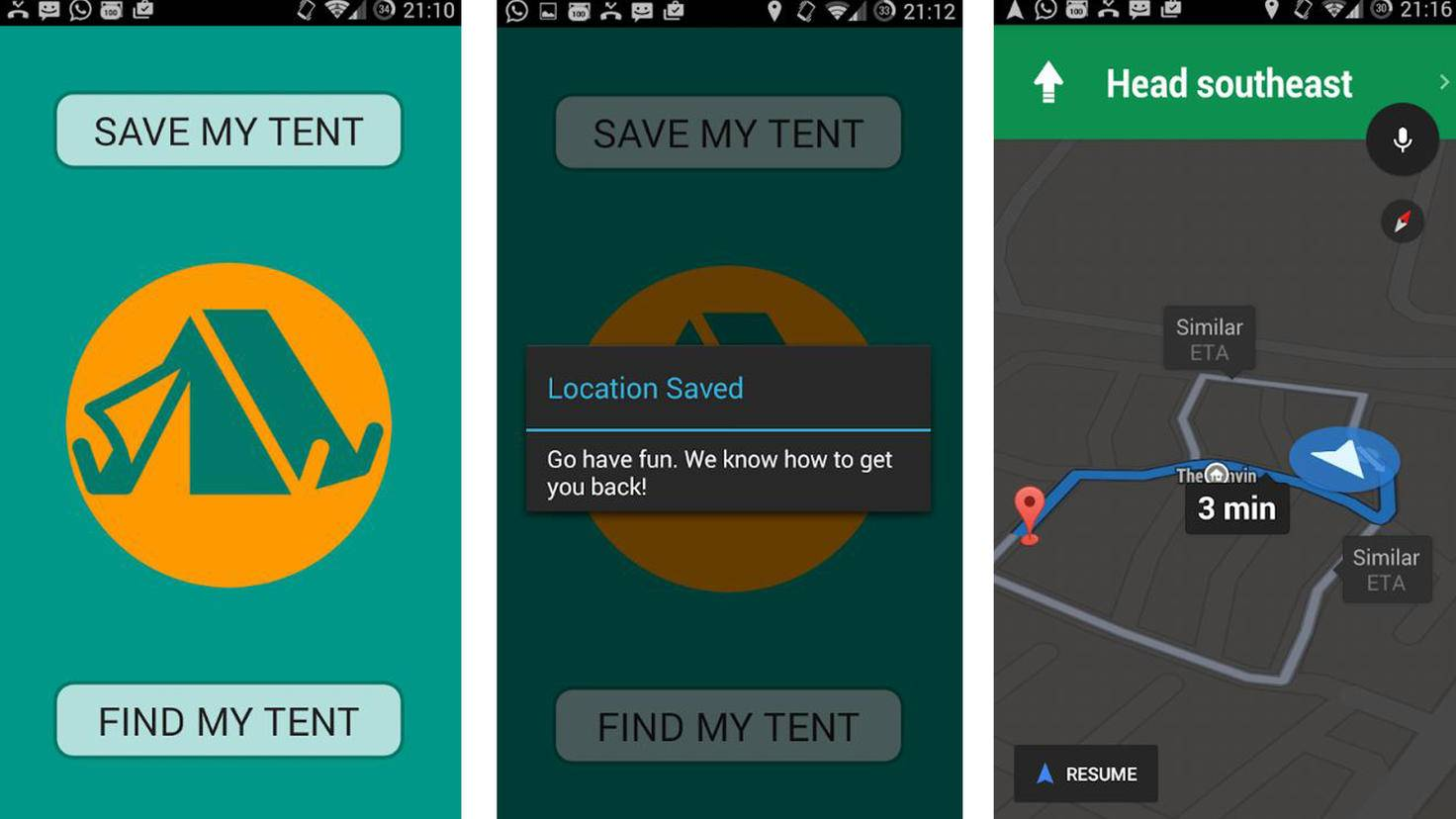 Find My tent-Google PlayStore-OSgroup