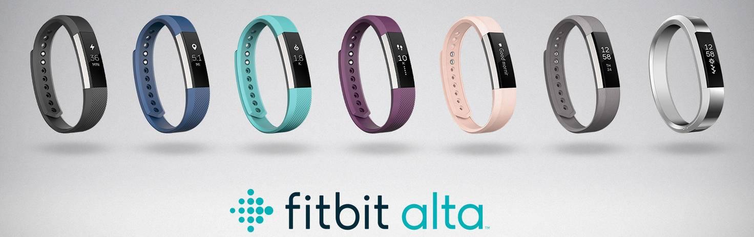 Das Line-up des Vorgängermodells: Fitbit Alta.