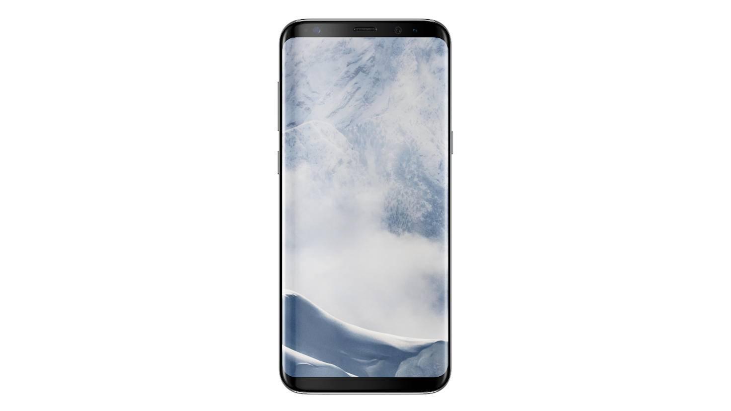 Das Samsung Galaxy S8 in Arctic Silver.
