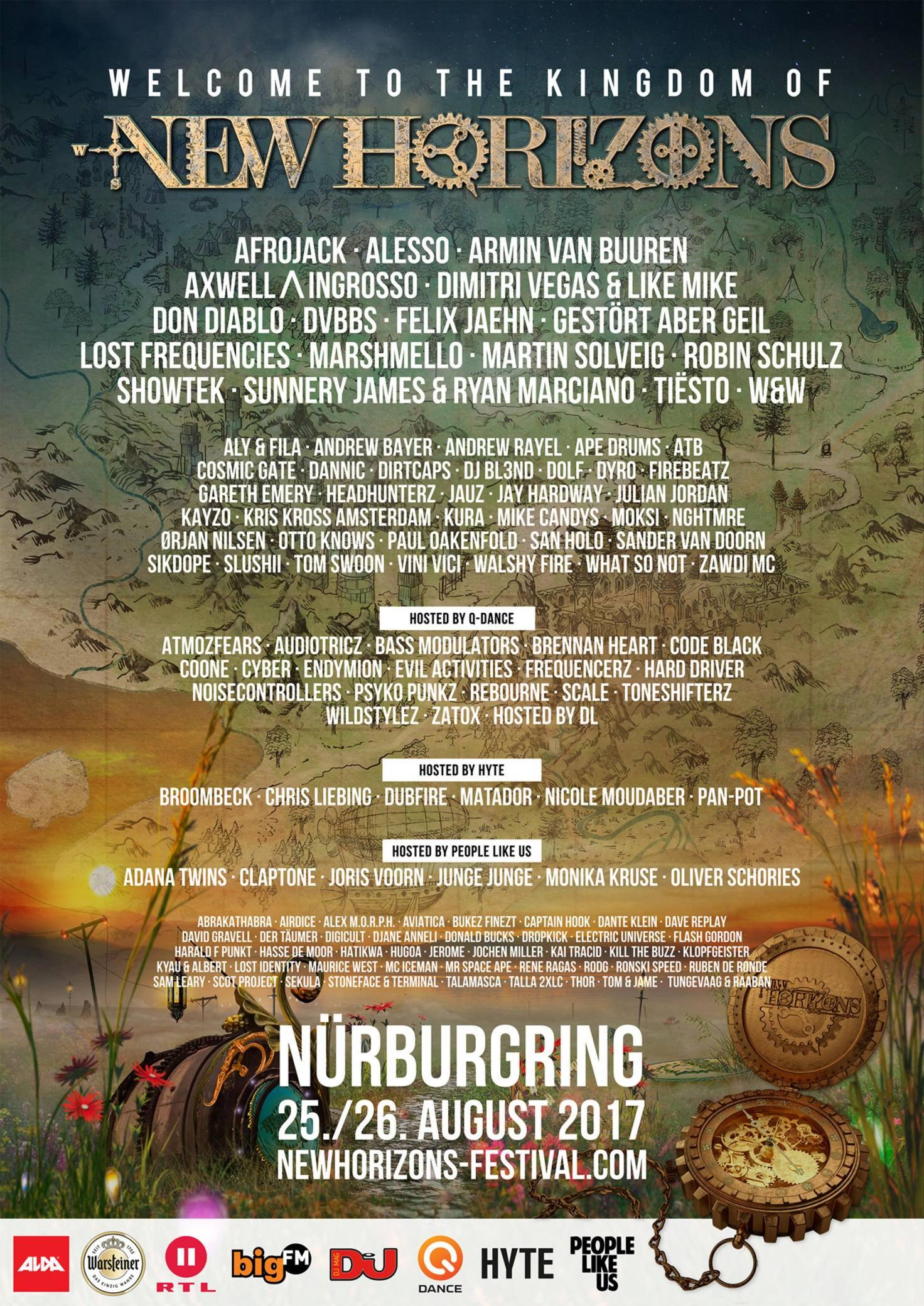 Absolut sehenswert: Das Line-up vom New Horizons Festival auf dem Nürburgring.