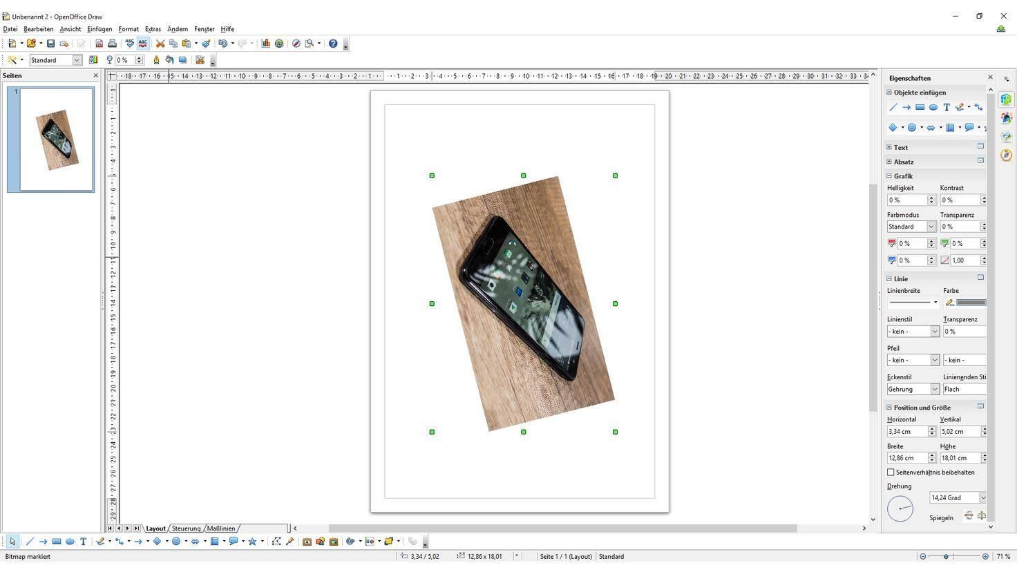 Open Office Bilder drehen HTC U Play Draw