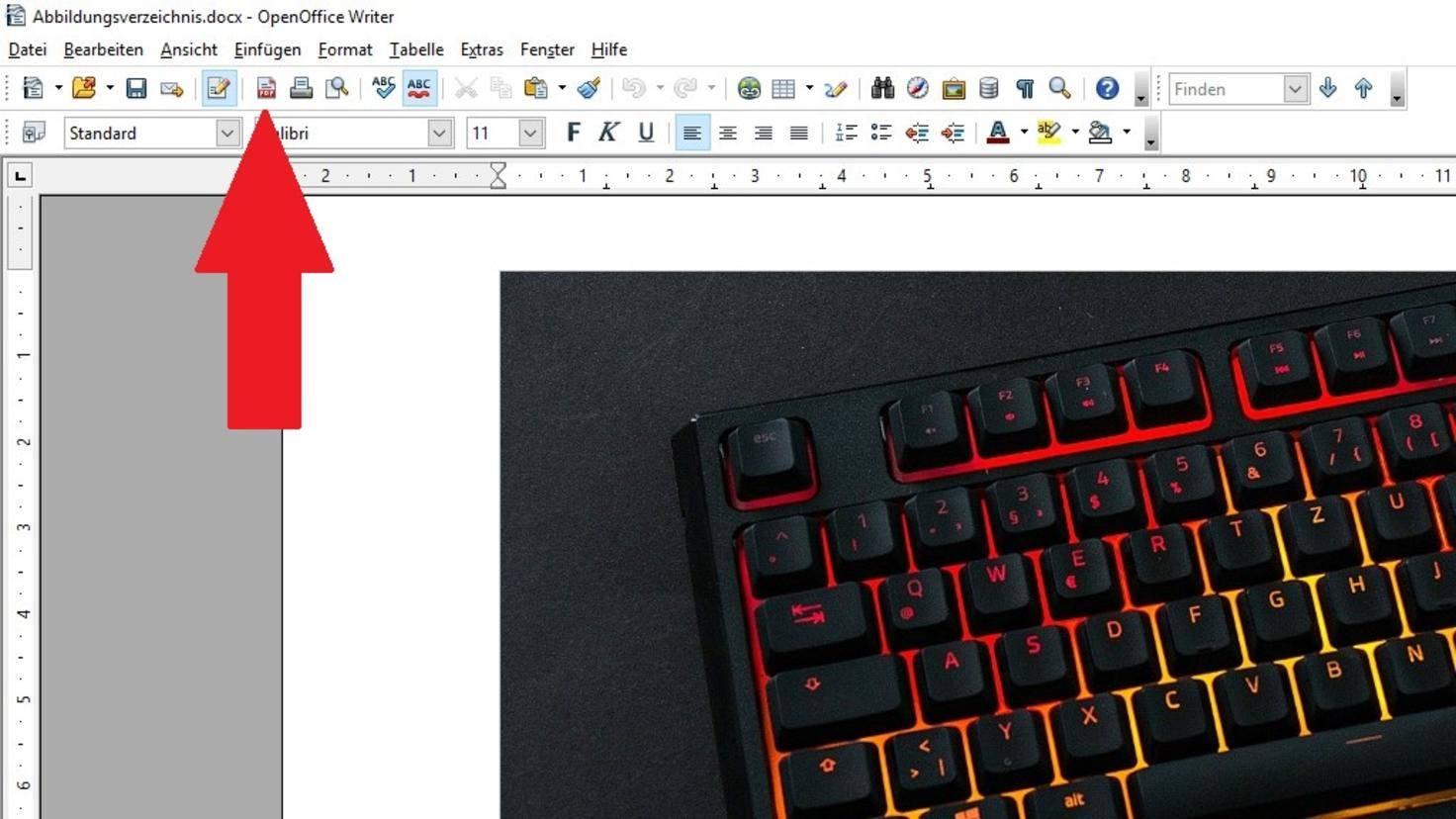 Open Office PDF umwandeln