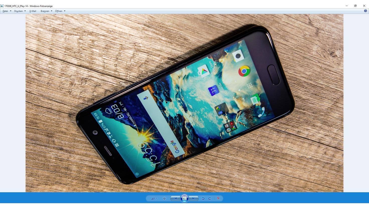 Open office Bilder drehen HTC U Play