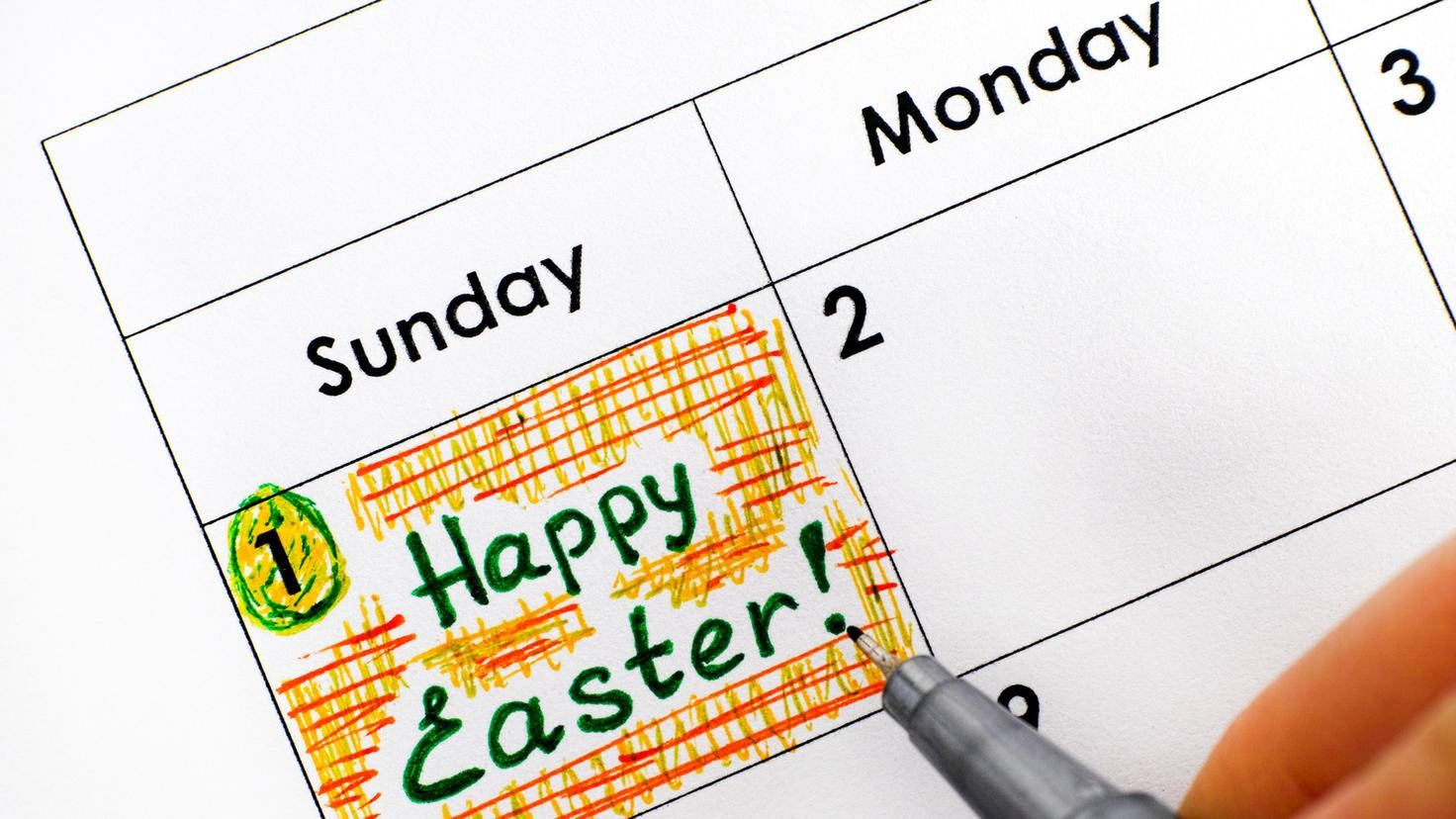 Ostern Kalender Termin