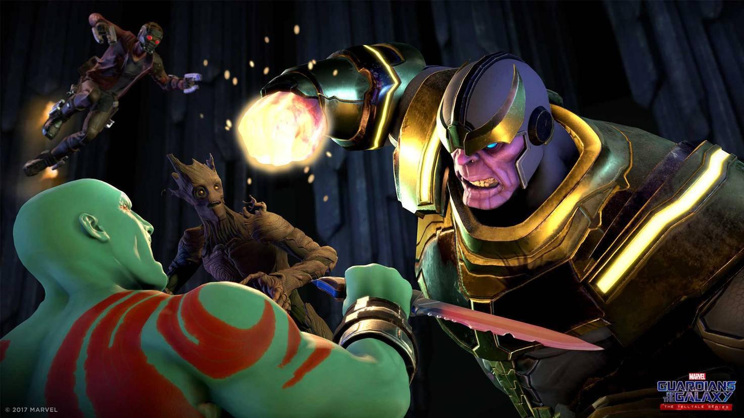 """In """"Guardians of the Galaxy: The Telltale Series"""" legen sich die Spieler offenbar mit dem Marvel-Schurken Thanos an."""