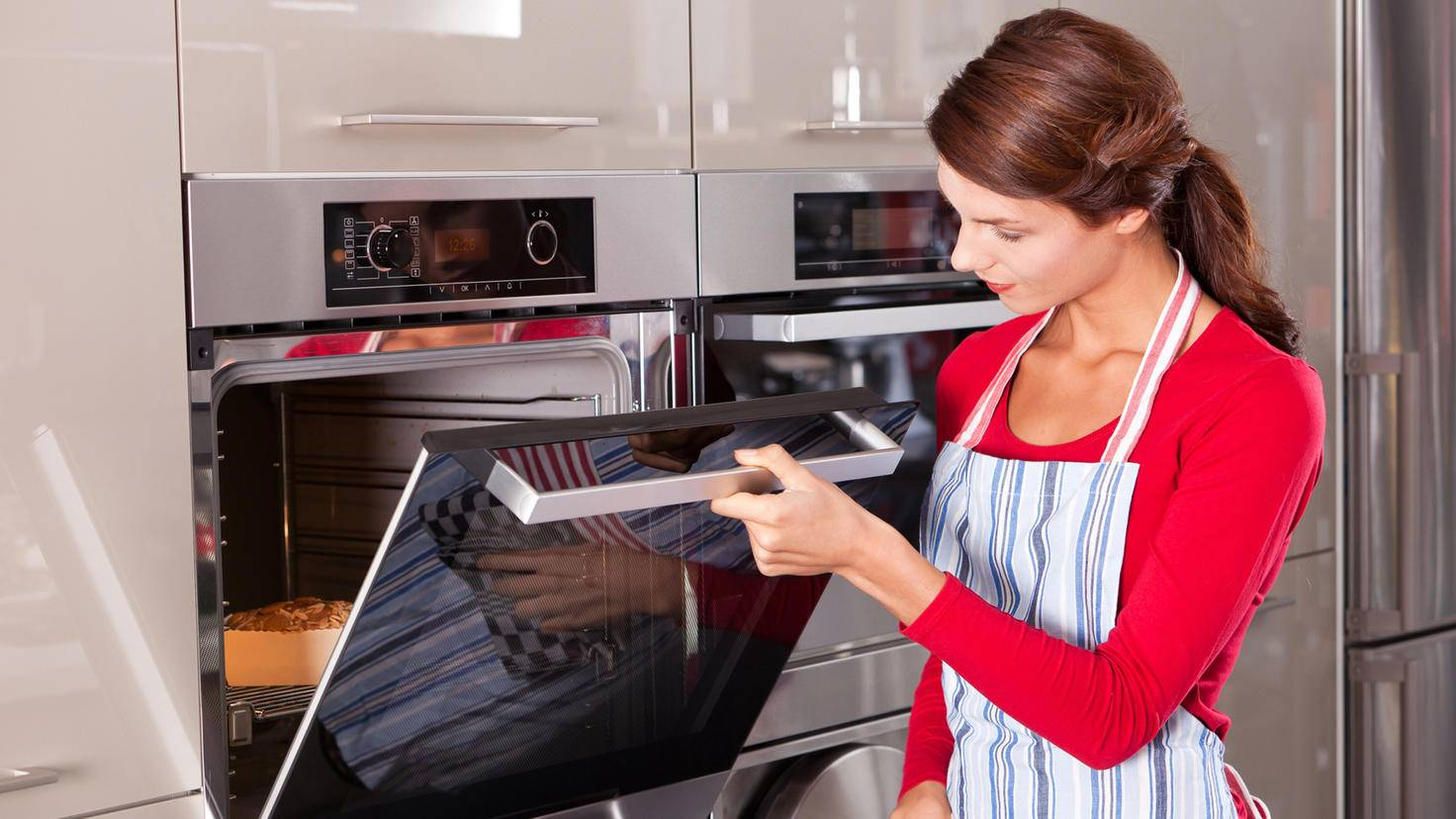 Ofen und Herdplatte können auch getrennt verbaut werden.