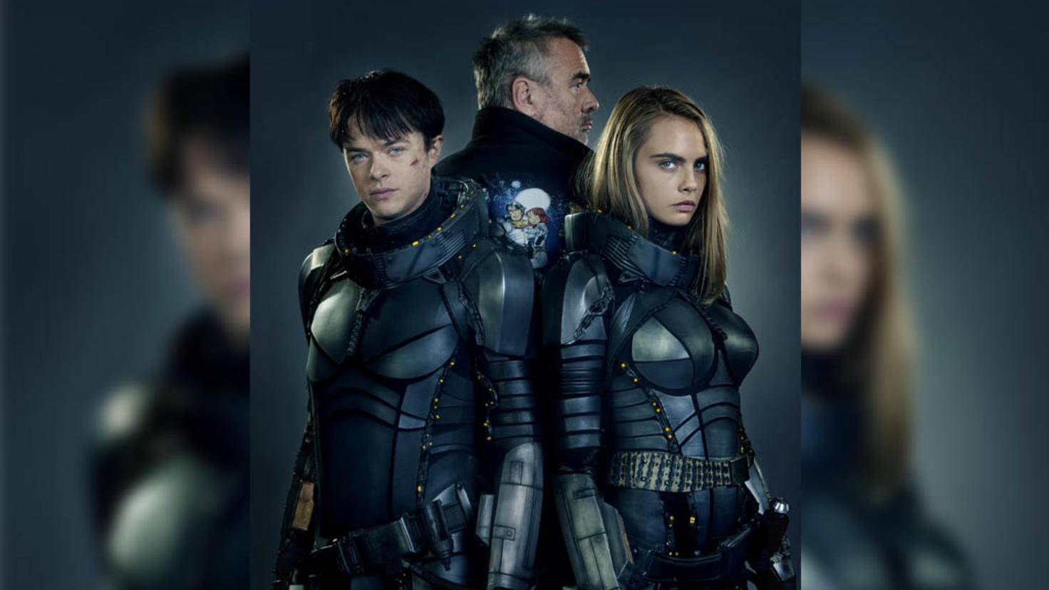Von links: Dane DeHaan, Luc Besson und Cara Delevingne.