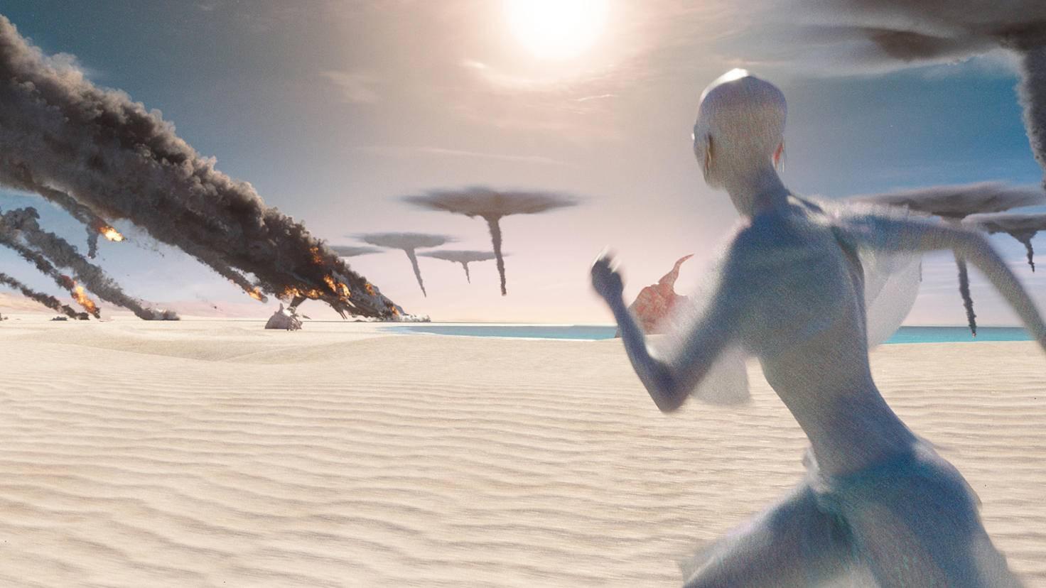 Die intergalaktische Stadt Alpha und ihre Bewohner sind in Gefahr.