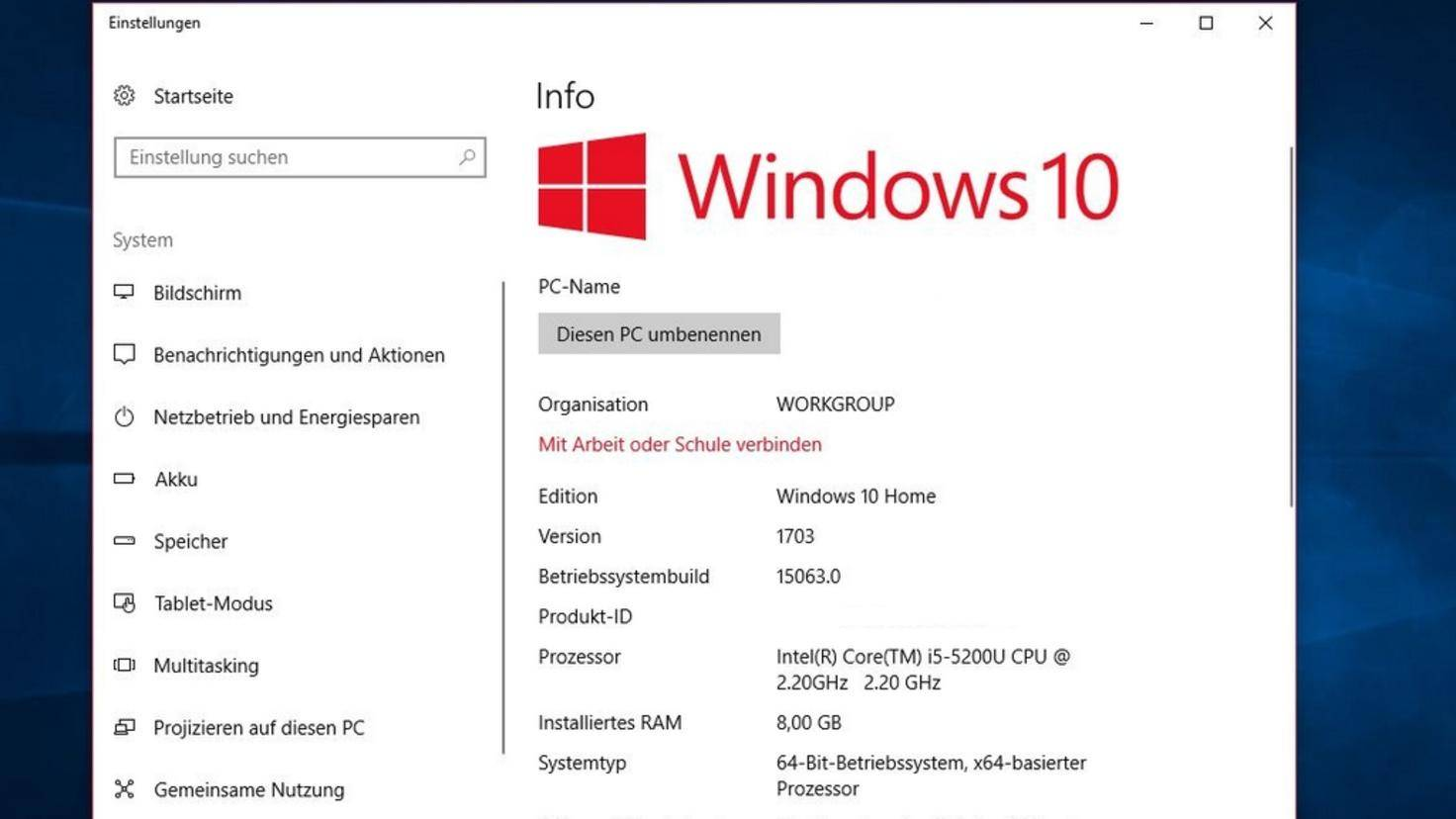 Windows 10 CA System