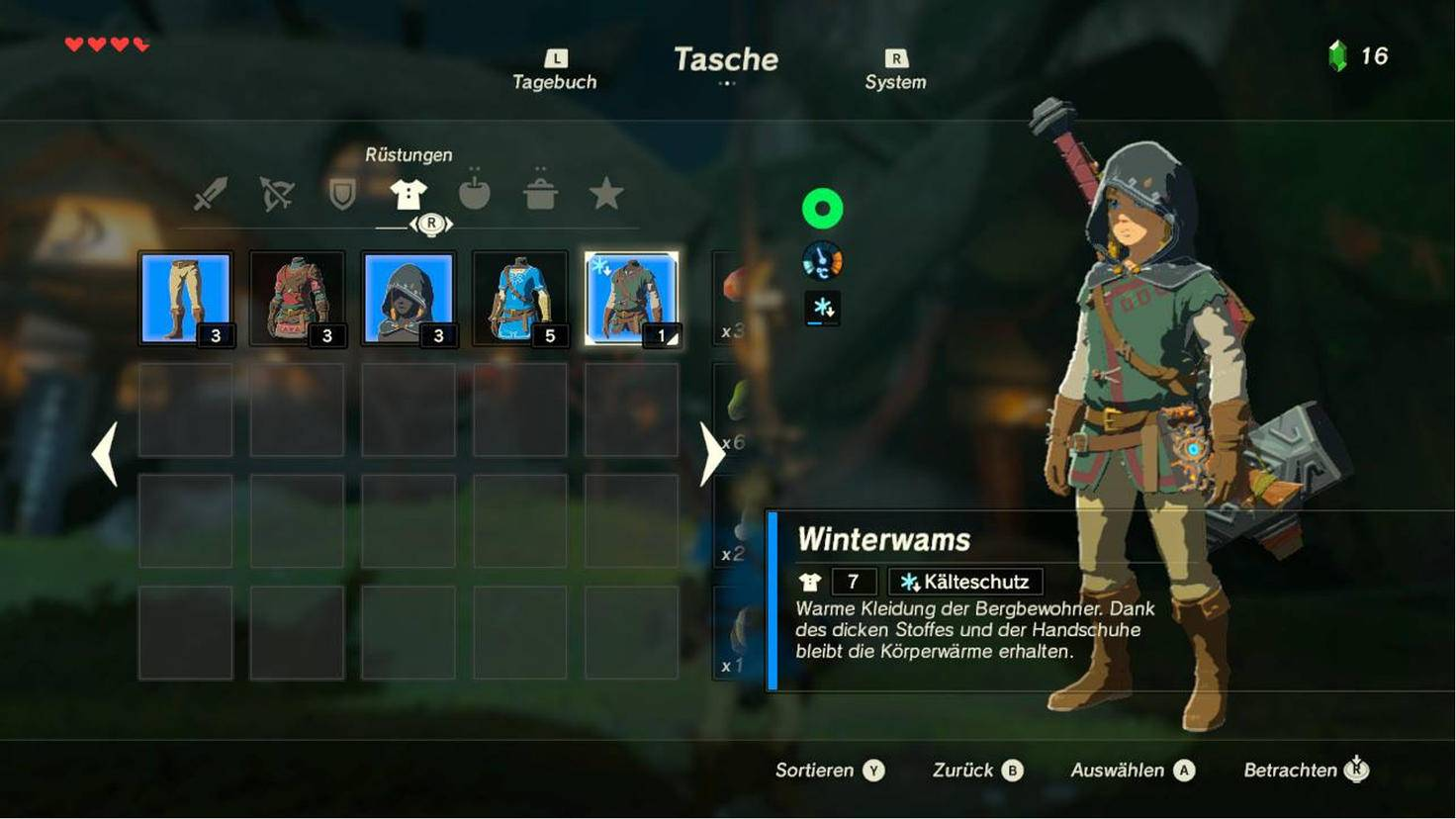 Breath Of The Wild Schreine Karte.Zelda Breath Of The Wild Warme Kleidung Bekommen
