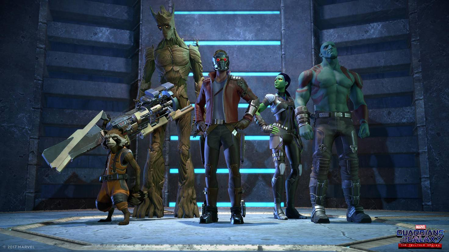 Die versammelte Guardians-Mannschaft vor dem nächsten Abflug.