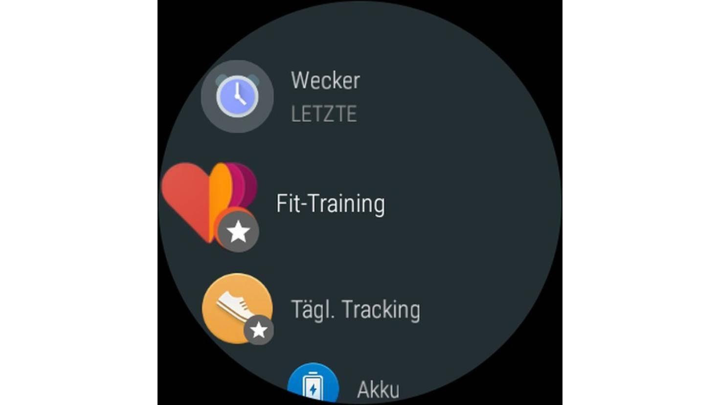 Android Wear 2.0 Apps verschieben