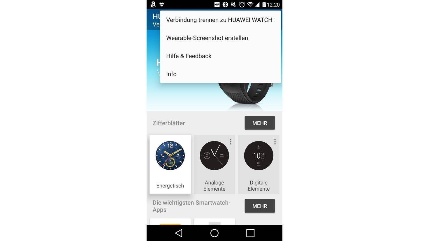 Android Wear 2.0 Screenshot machen