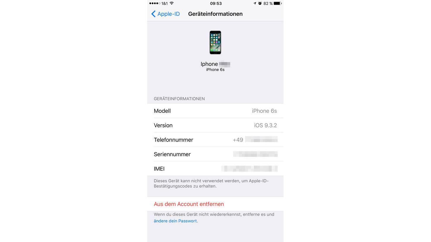 Apple-ID-entfernen